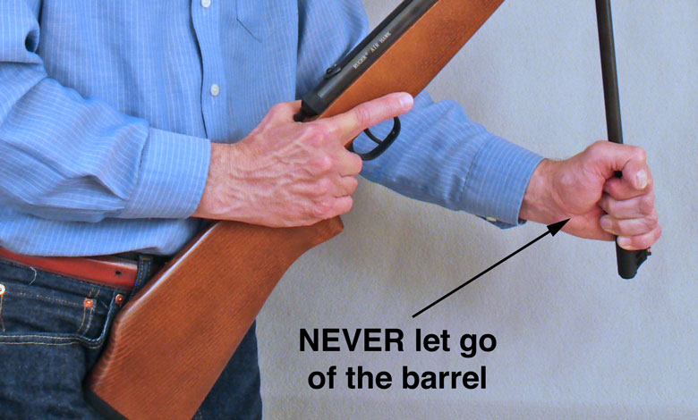 Load break barrel air rifles safely