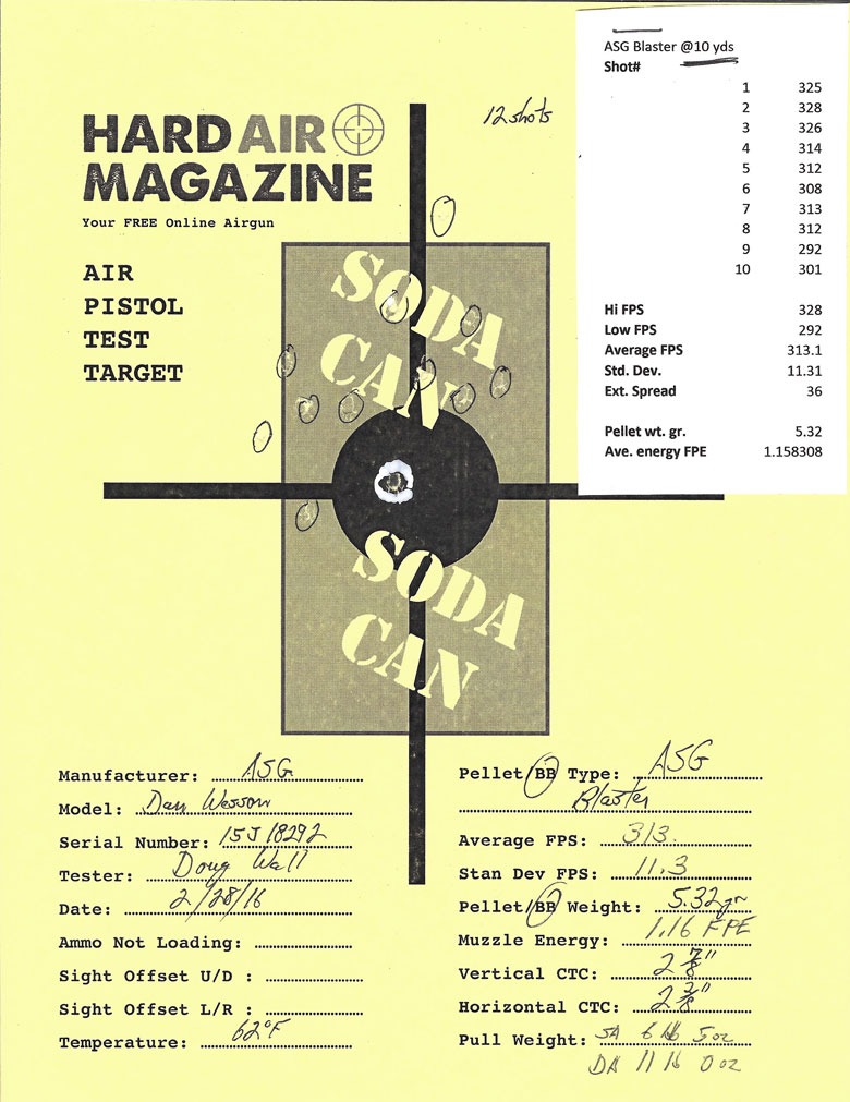 "Dan Wesson 715 6"" BB Revolver Test Review ASG Blaster BBs 10 yards"