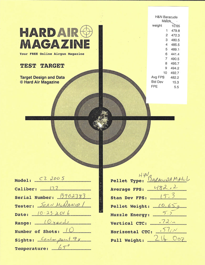 Air Arms T200 Sporter Air Rifle Test Review H&N Baracuda Match pellets