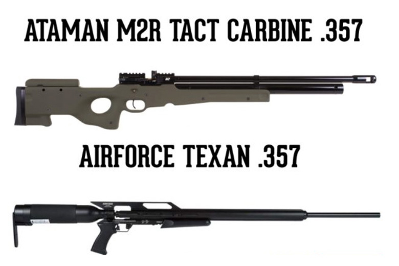 Big Bore Comparison Test: AirForce Texan and Ataman M2R Tact Carbine in .357 Cal