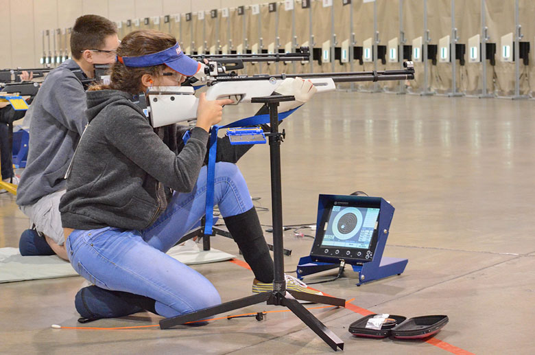 Junior Girls Break Same Record During Same Relay at JROTC Regional Air Rifle Match.