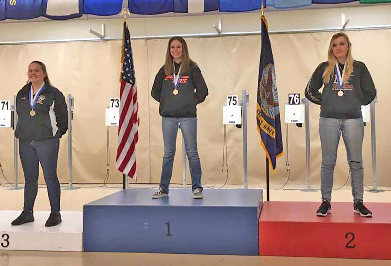Junior Girls Break Same Record During Same Relay at JROTC Regional Air Rifle Match