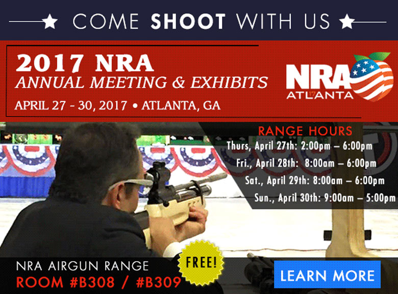 Visit Pyramyd Air's Interactive Airgun Shooting Range at the 2017 NRA Annual Meeting & Exhibits