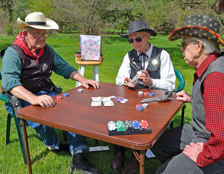 Desperadoes Shoot Six-Gun Poker With The Pyramyd Air Poker Game