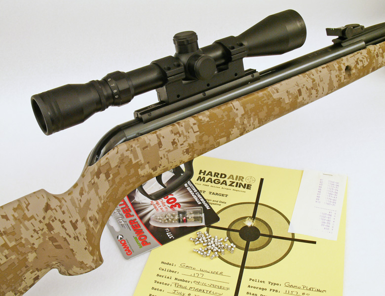 Gamo Whisper Air Rifle Test Review .177 Cal.