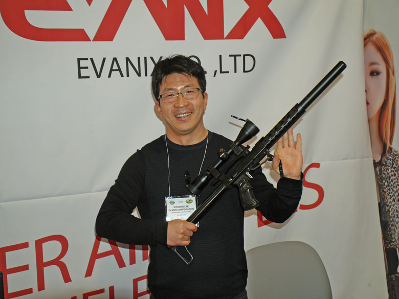 new airguns at SHOT Show 2015 Evanix side lever air rifle