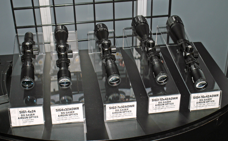 New SIG SAUER airgun scopes