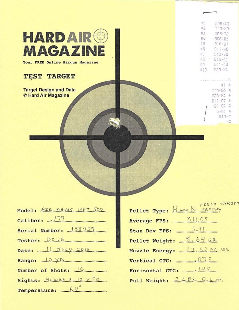 Air Arms HFT 500 Airgun Test Review H&N Field Target Trophy Pellets