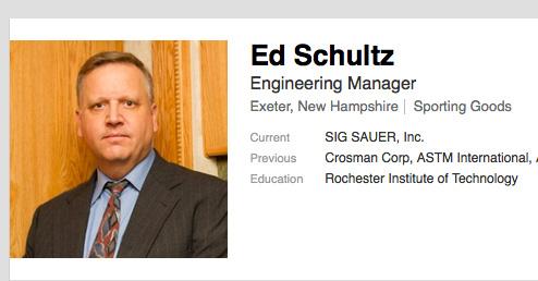 SIG Air Division Hires Ed Schultz