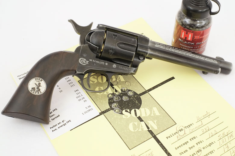 Duke Colt CO2 BB Revolver Test Review