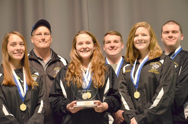 Zion Benton High School in Illinois fired a score of 4364-129x to earn first overall in the Navy sporter team competition. Howard Norrish (back, second from right) set a new Navy JROTC National Record.