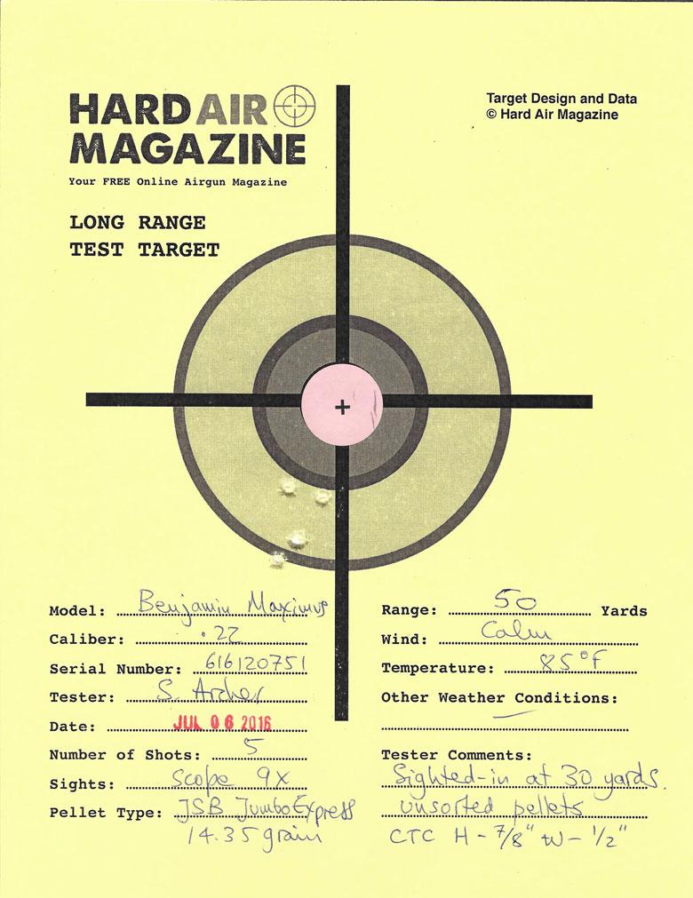 Shooting the Benjamin Maximus at Long Range