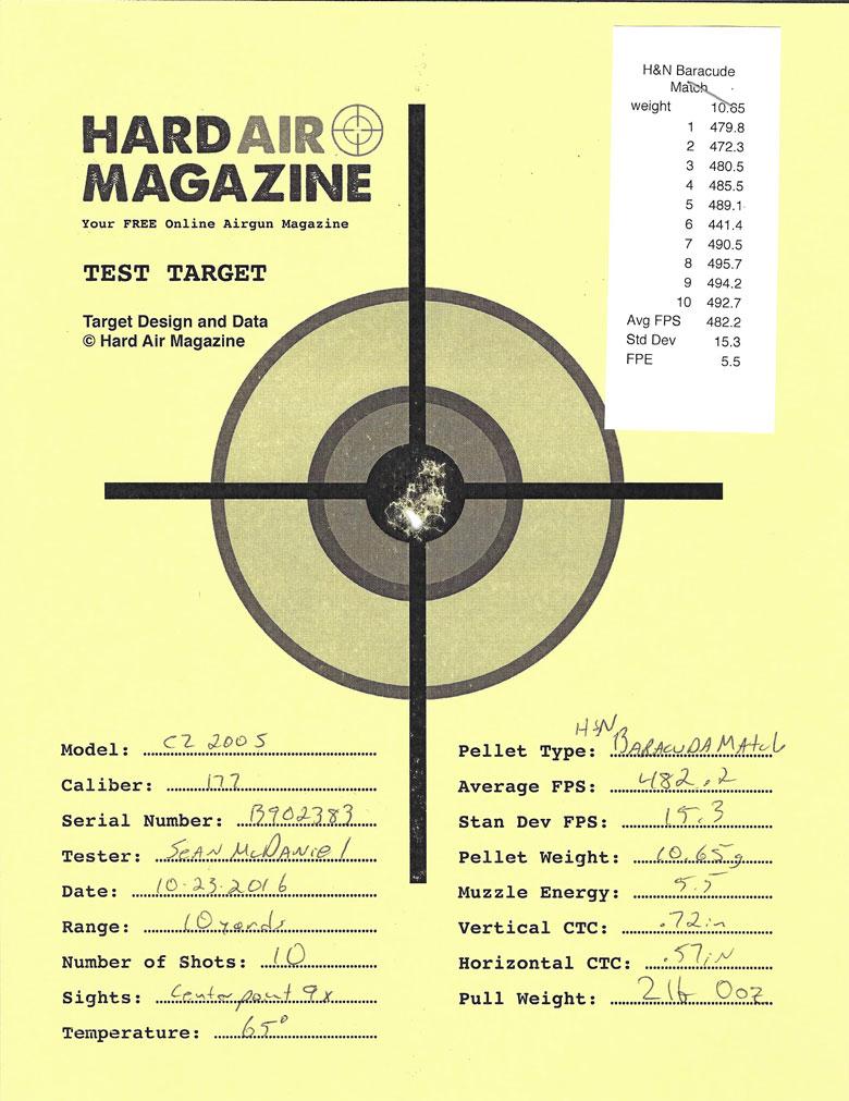 Air Arms T200 Sporter Air Rifle Test Review H&N Baracuda Match pellets