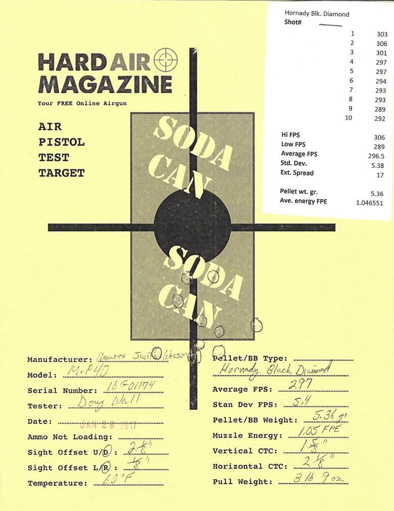 Smith & Wesson M&P 40 Blowback BB Pistol Test Review Hornady Black Diamond BBs