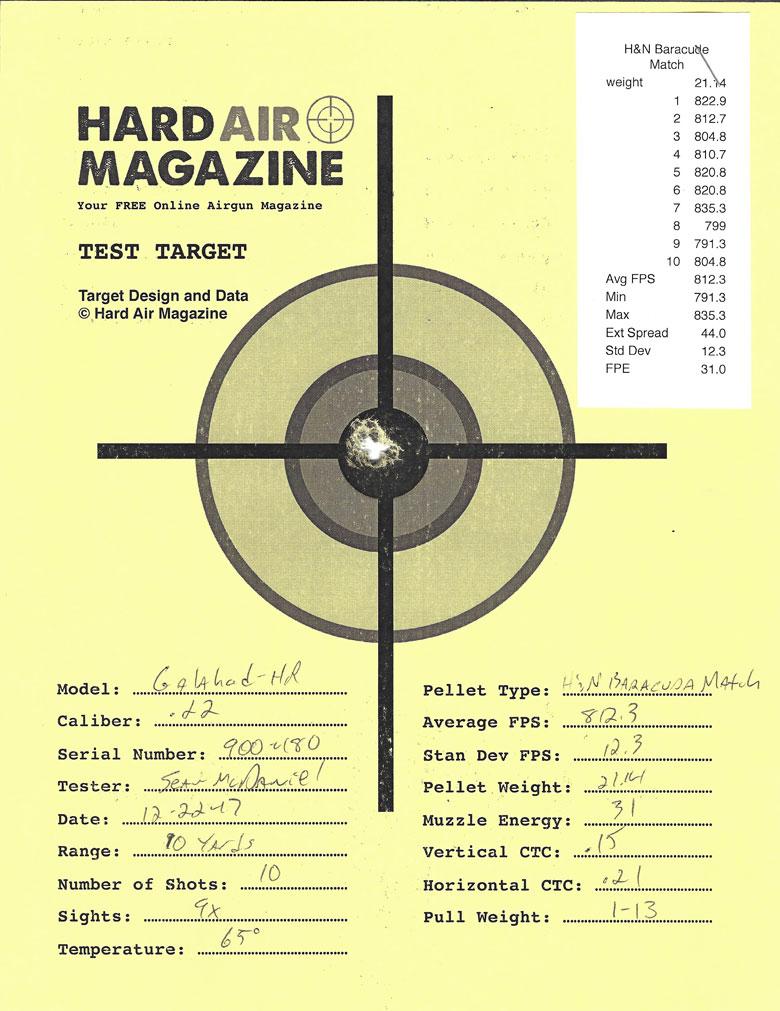 Air Arms Galahad Bullpup Air Rifle Test Review .22 Caliber H&N Baracuda Match Pellets