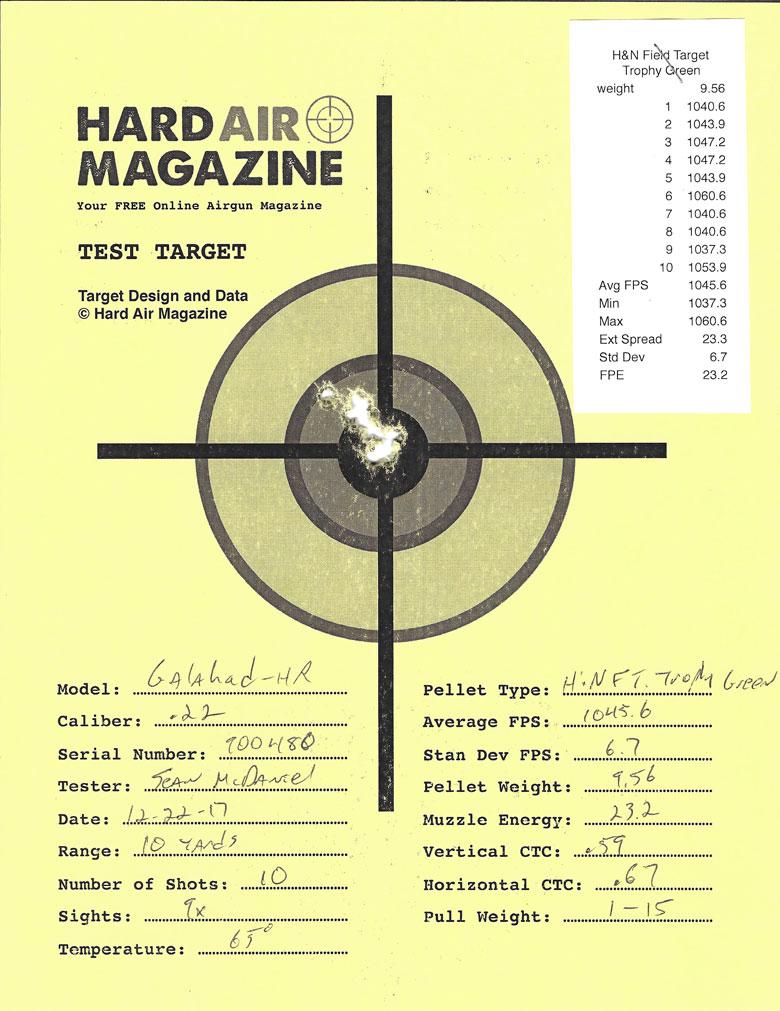 Air Arms Galahad Bullpup Air Rifle Test Review .22 Caliber H&N FTT Green Pellets