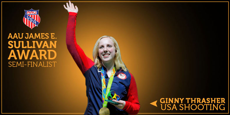 Vote For Olympic Gold Air Rifle Champion Ginny Thrasher in the AAU James E. Sullivan Awards