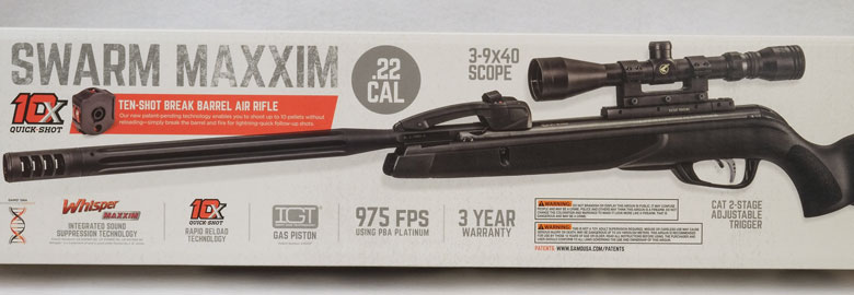 Gamo Swarm Maxxim Air Rifle Test Review  22 Cal