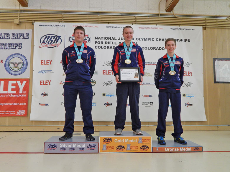 Jack Leverett III Wins Men's Air Pistol Gold at 2017 National Junior Olympic Shooting Championships