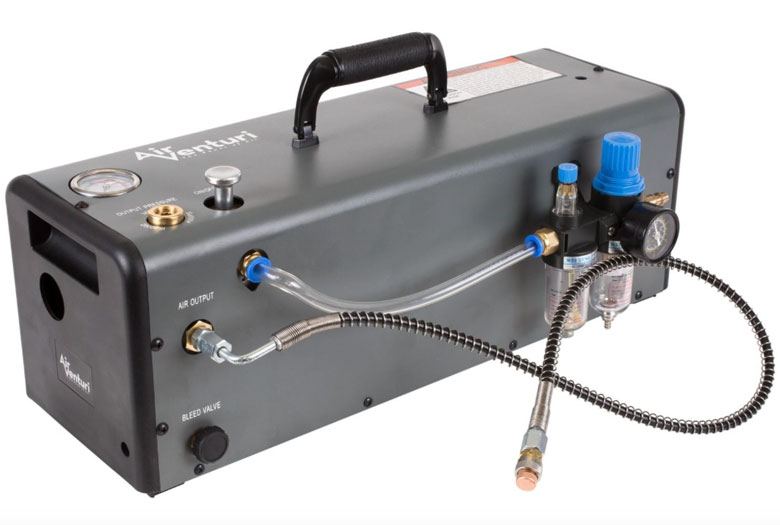The New Air Venturi Power Booster Provides HPA From a Shop Compressor