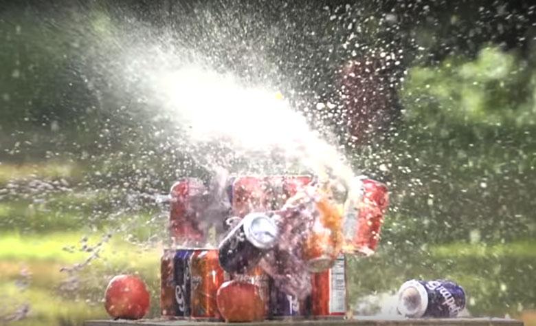 Air Ordnance SMG.22 Full Auto Airgun Meets Soda Cans - No Contest!