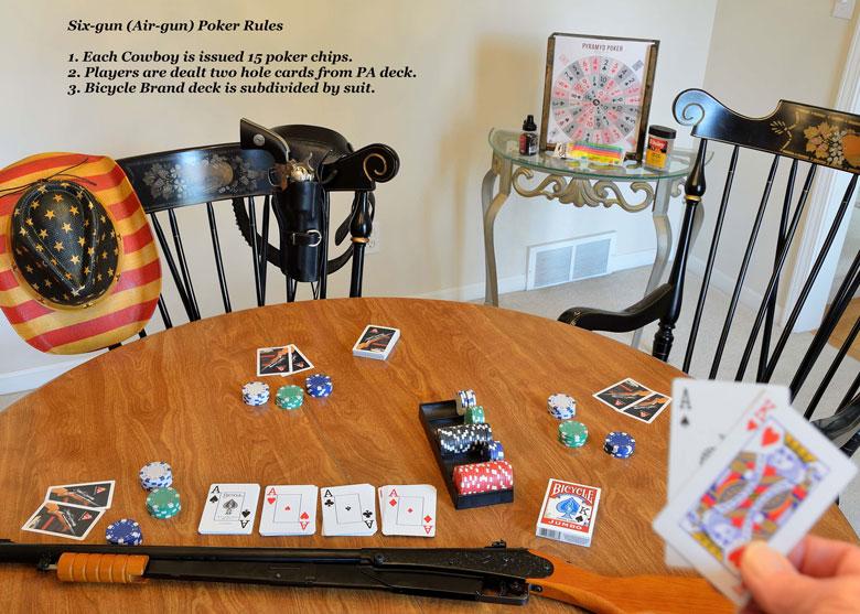 Desperadoes Shoot Six-Gun Poker With The Pyramyd Air Poker Game