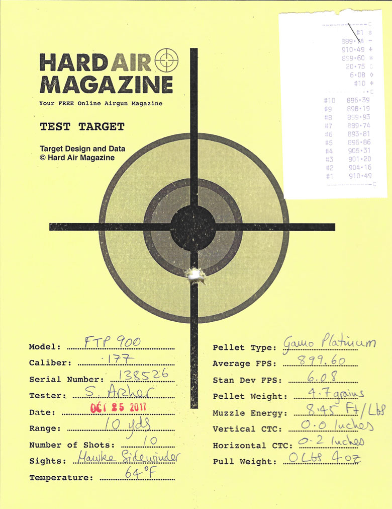 Air Arms FTP 900 Field Target PCP Air Rifle Test Review .177 Caliber