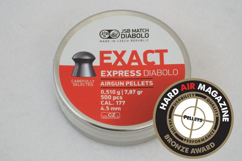 JSB Exact Express Diabolo 7.87 Grain .177 Pellet Test Review