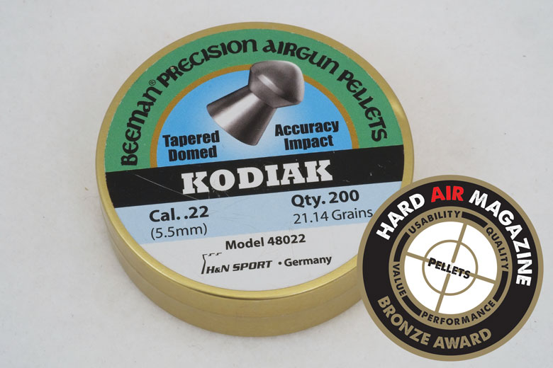 beeman kodiak grain 22 caliber pellet test review