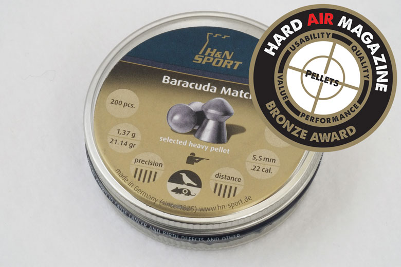 h n baracuda match grain 22 caliber pellet test review