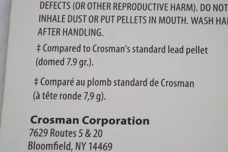 Crosman Copper Magnum 10.6 Grain .177 Caliber Pellet Test Review
