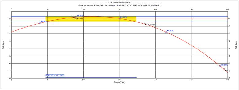 Gamo Rocket 14.3 Grain .22 Caliber Pellet Test Review