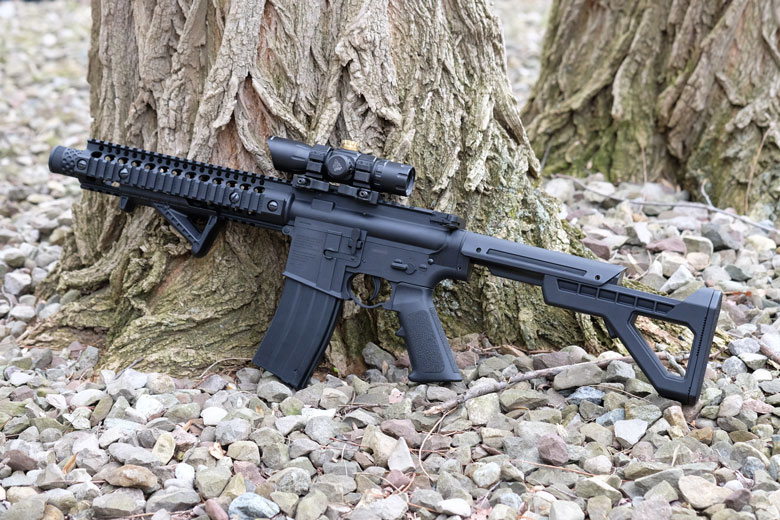 Exclusive First Look At The New Crosman DPMS SBR Full Auto BB Rifle