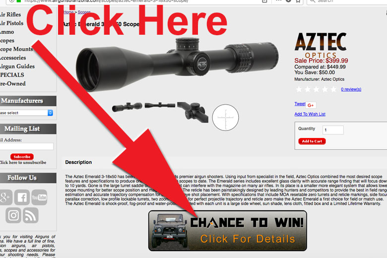 The Countdown Is On For The Airguns Of Arizona Win A Truck Sweepstakes!
