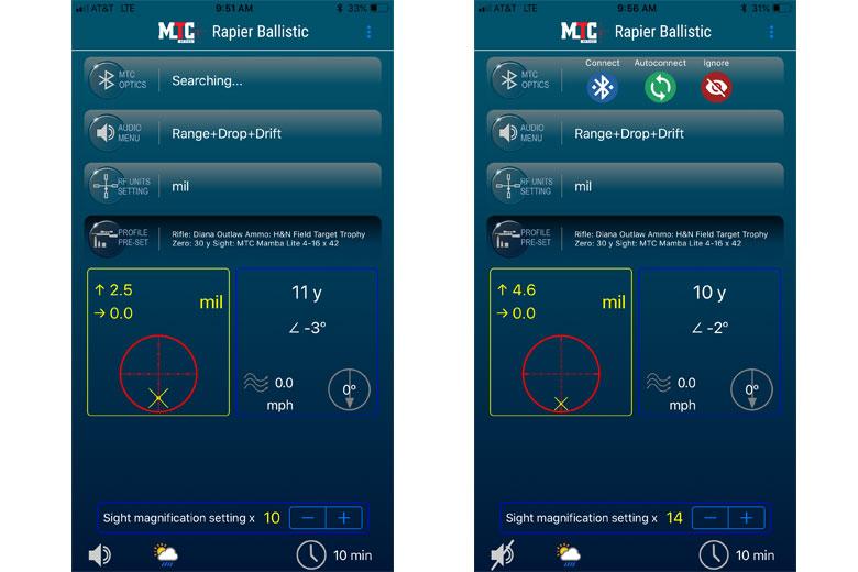 MTC Optics Rapier Ballistic Laser Rangefinder