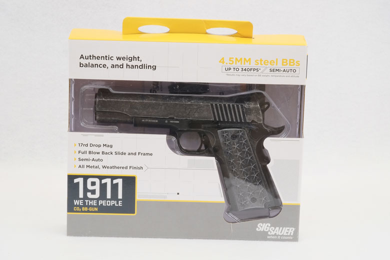 SIG SAUER 1911 We The People CO2 BB Gun Reivew