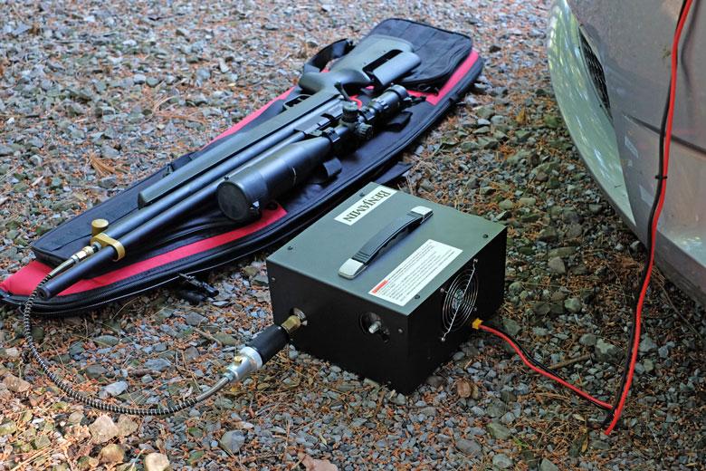 Using The Benjamin Traveler Portable HPA Compressor