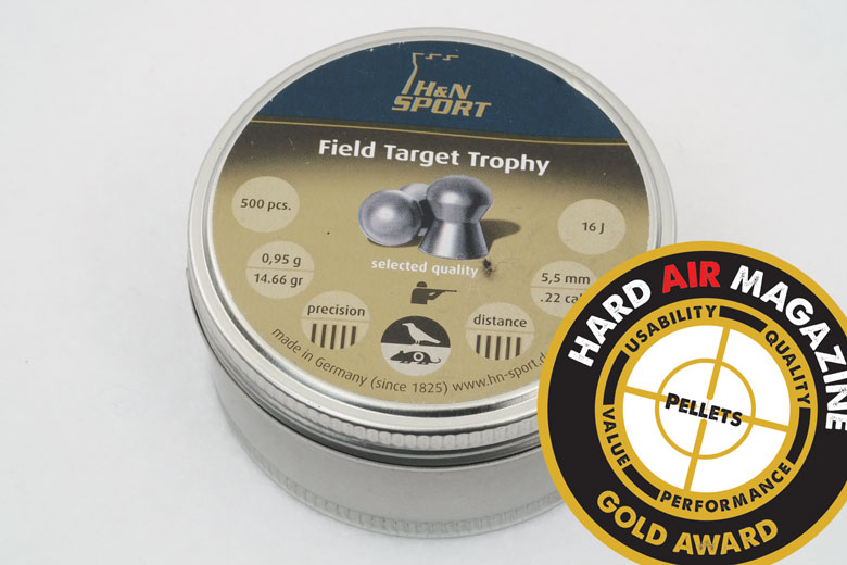 H&N Field Target Trophy 22 Caliber 14.66 Grain Pellet Test Review