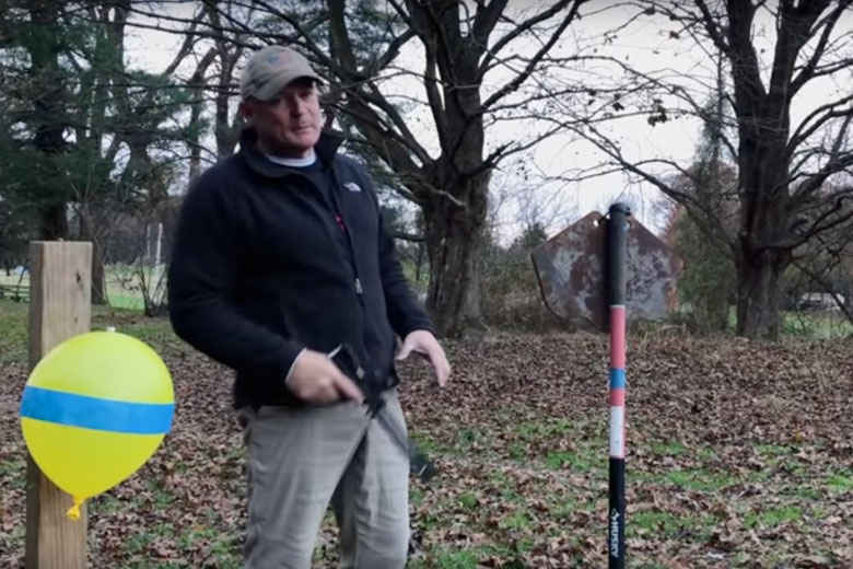 Rick Rehm Shooting Air Pistol Offhand - Don't Try This At Home Folks!