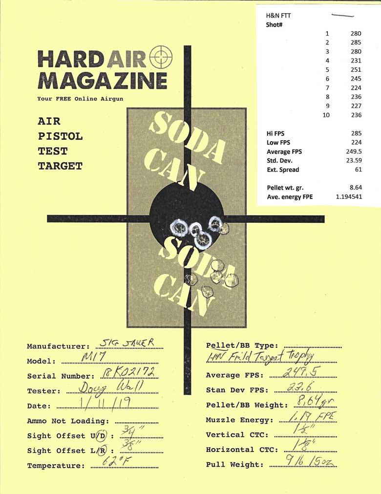 SIG SAUER P320 M17 Air Pistol Test Review