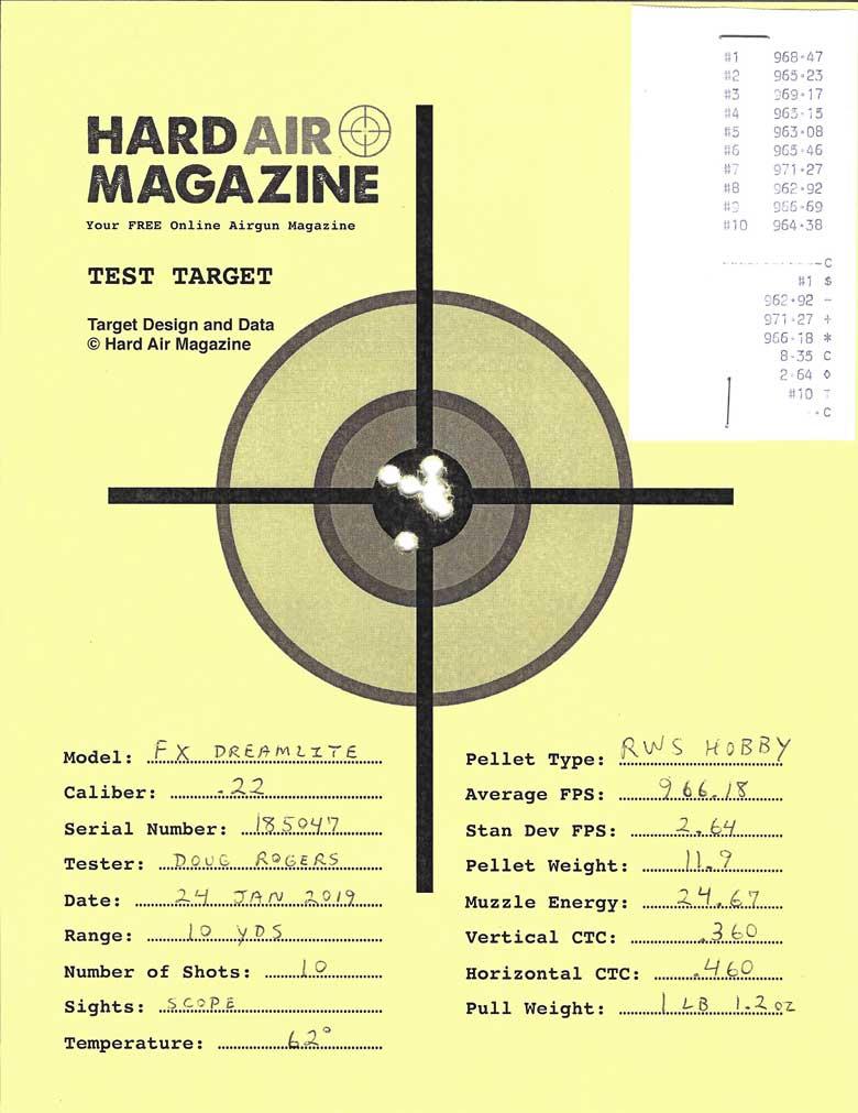 FX Dreamlite Air Rifle Test Review .22 Caliber