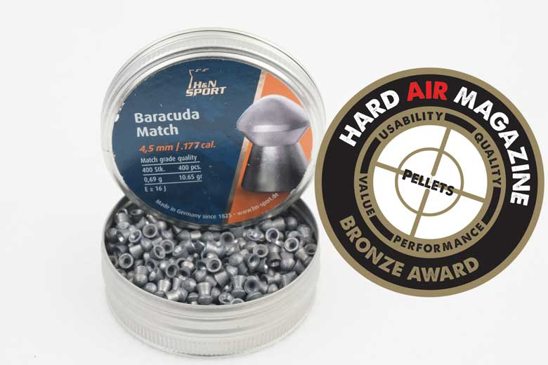 H&N Baracuda Match 10.65 Grain .177 Caliber Pellet Test Review