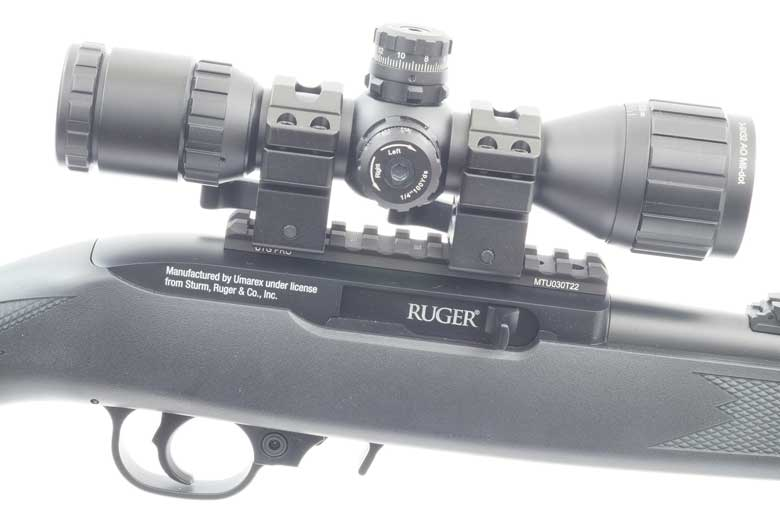 Ruger 10/22 Air Rifle Scope Mounting