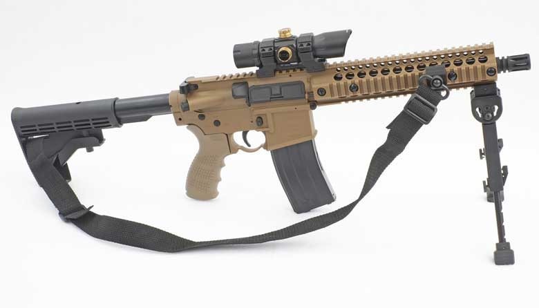 The Crosman Full Auto R1 is supplied with a red dot sight and BB speed loader. You're really going to need the speed loader, together with a ton of BBs and a truck load of CO2 cartridges. This gun is an absolute hoot to shoot!
