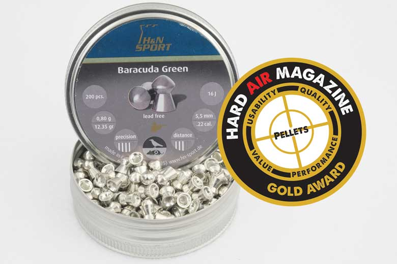 H&N Baracuda Green 12.35 Grain .22 Caliber Pellet Test Review