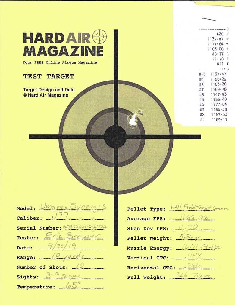 Umarex Synergis Air Rifle Test Review .177 Caliber