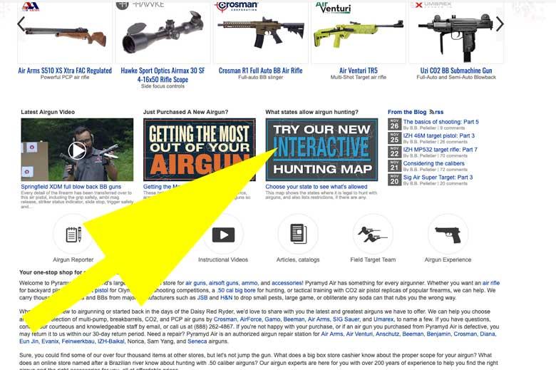 Airgun Hunting Map