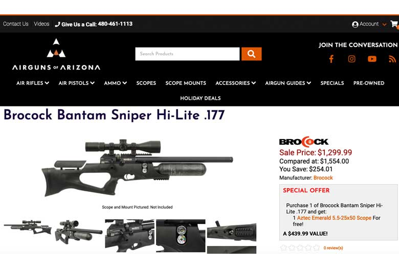 Save Up To $694 On Brocock PCP Air Rifle Bundles At AoA
