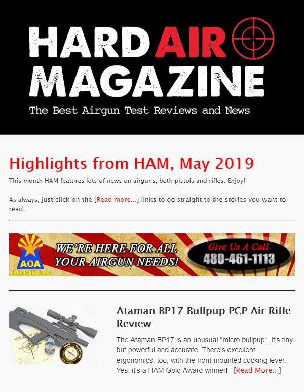 Hard Air Magazine email newsletter