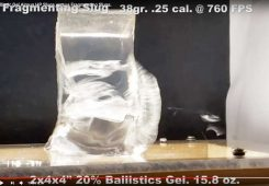 Fragmenting Slugs In Ballistic Gel Video. Wow!